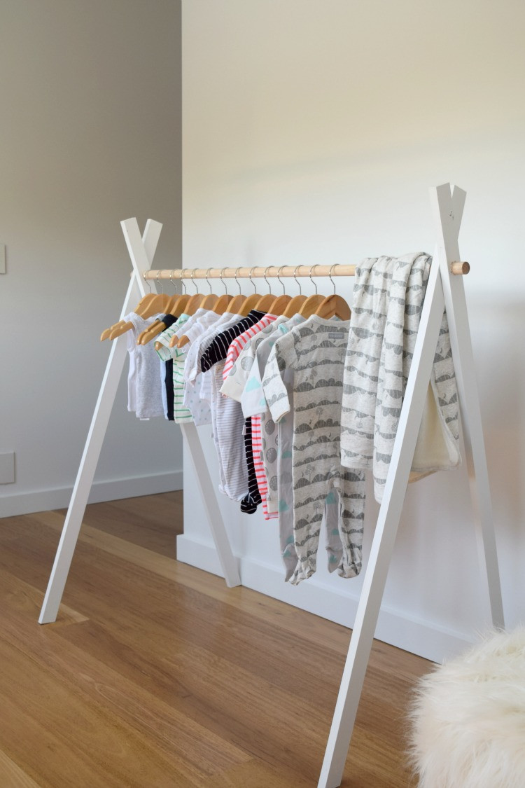 DIY Toddler Clothes  DIY Kids Teepee Clothing Rack