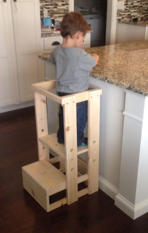 DIY Toddler Step Stool  Toddler Step Stool Tot Tower Adjustable Step Stool