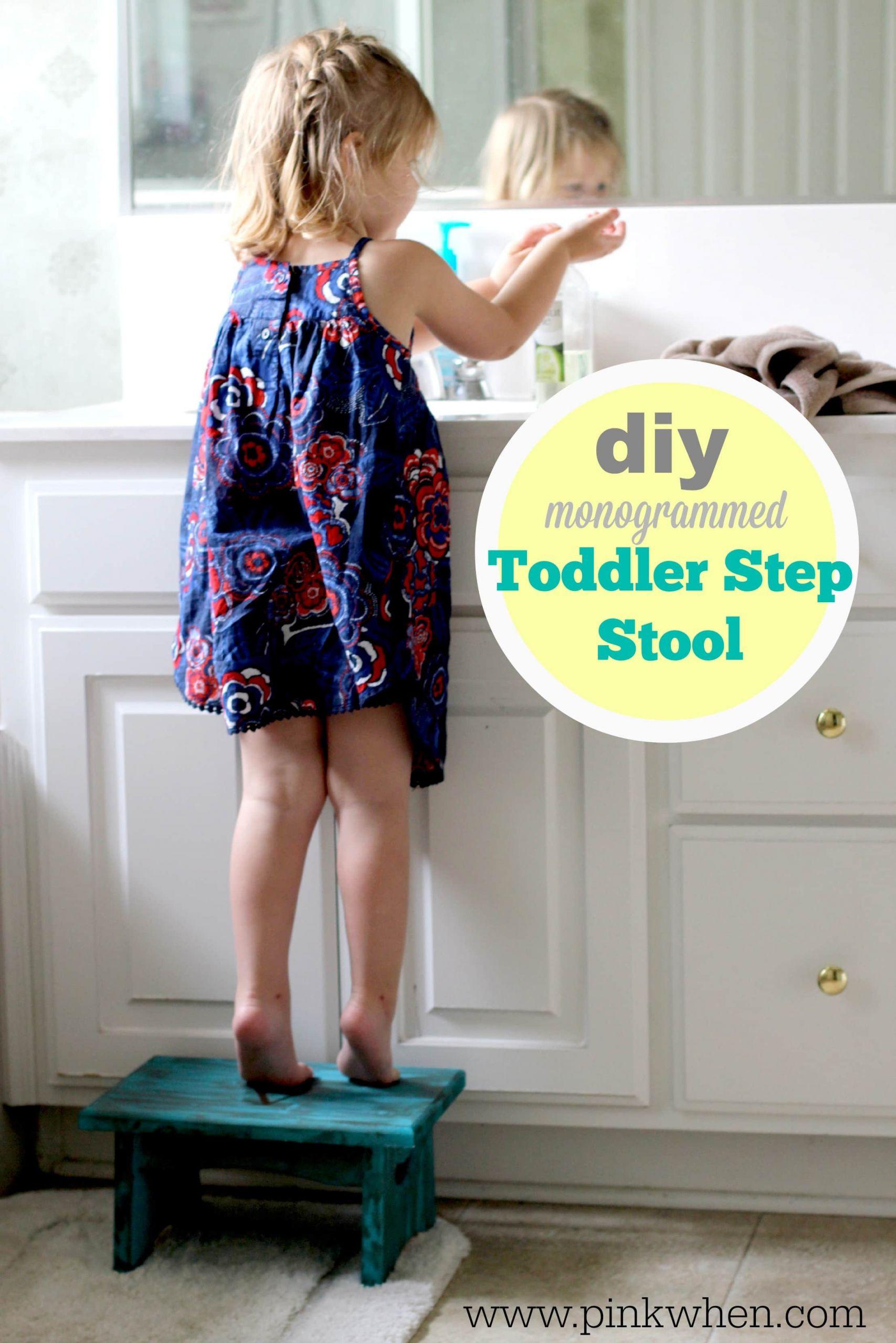 DIY Toddler Step Stool  DIY Toddler Step Stool PinkWhen