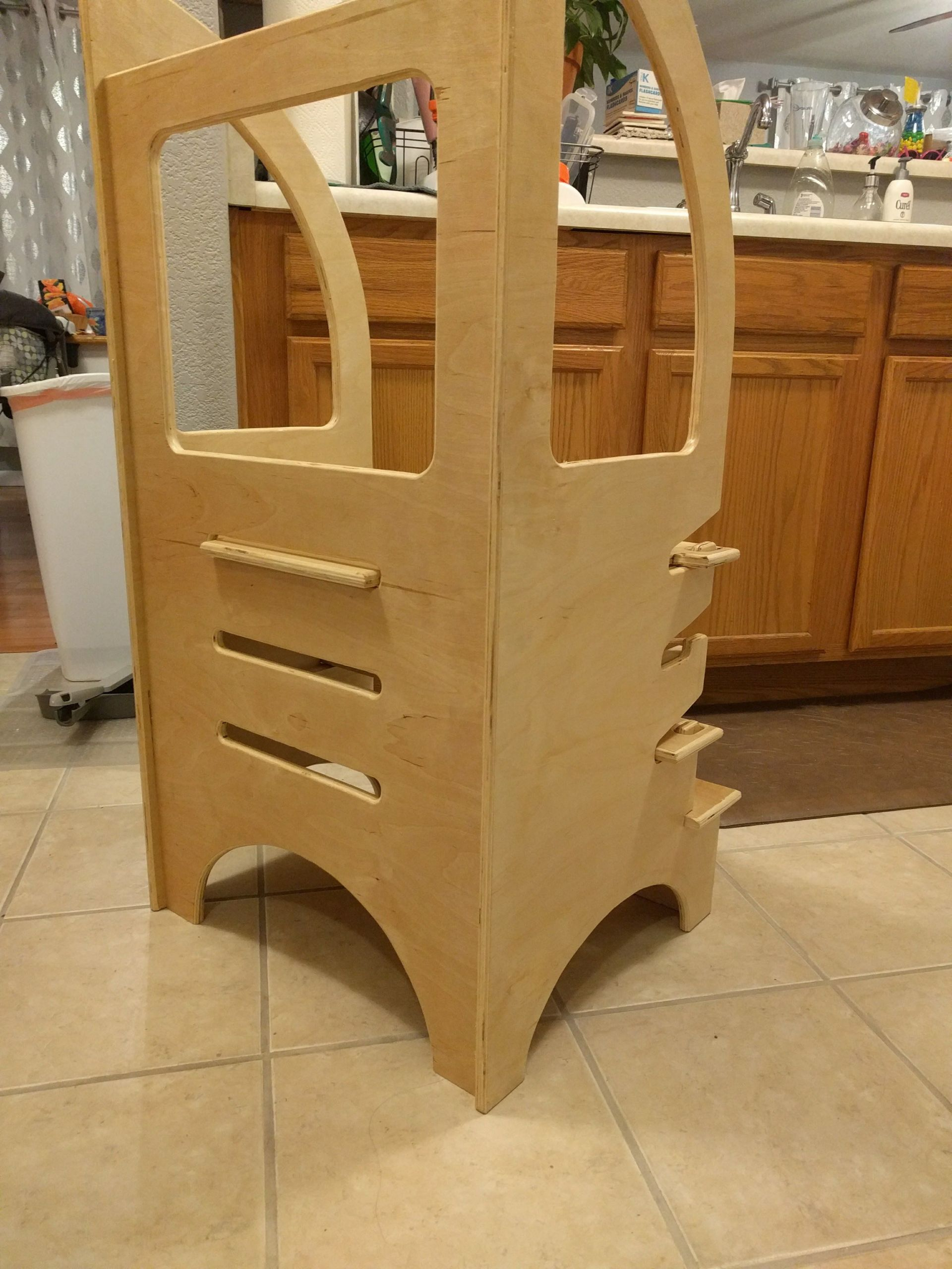 DIY Toddler Step Stool  Adjustable height Toddler Step Stool made from plywood