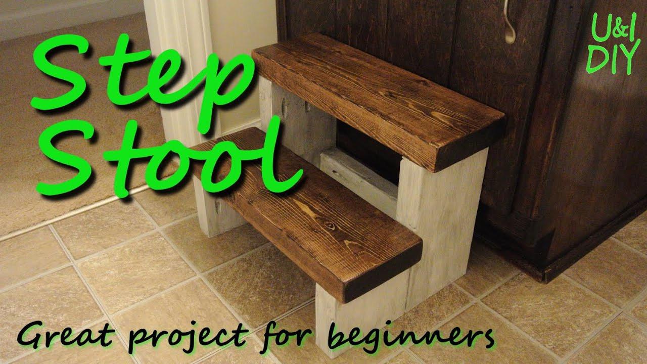 DIY Toddler Step Stool  Step stool DIY tutorial