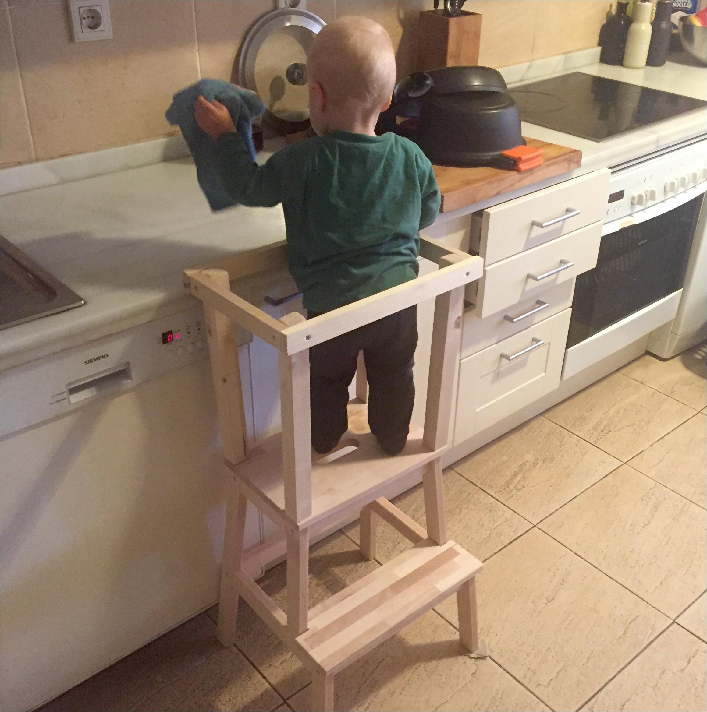 DIY Toddler Step Stool  Diy toddler Step Stool with Rails