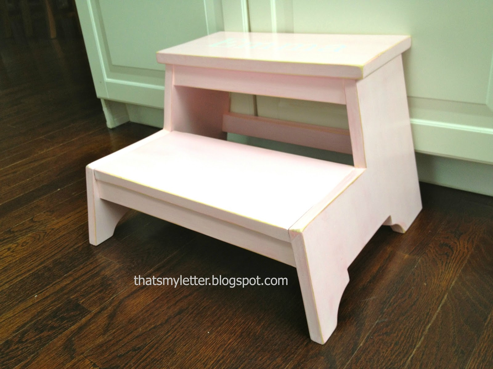 """DIY Toddler Step Stool  That s My Letter """"K"""" is for Kids Step Stool"""