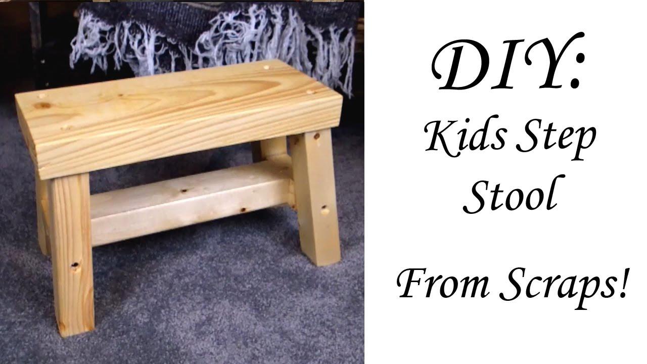 DIY Toddler Step Stool  Wooden Kids Step Stools