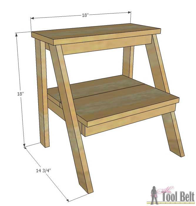 DIY Toddler Step Stool  Kid s Step Stool Her Tool Belt