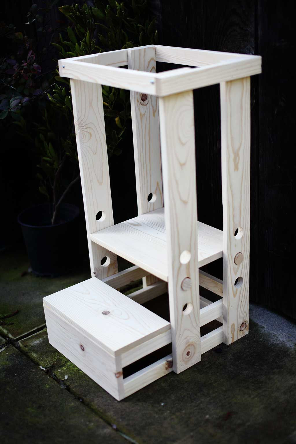 DIY Toddler Step Stool  How to Build a DIY Toddler Step Stool with Guard Rail in