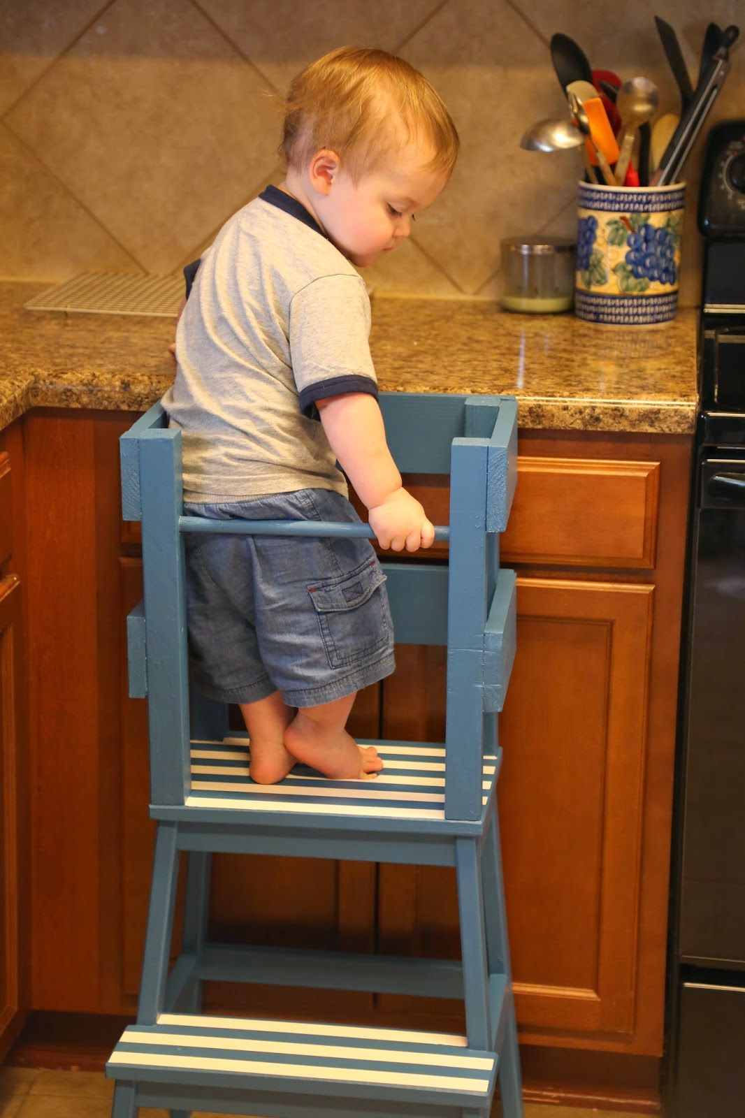 DIY Toddler Step Stool  DIY Step Stool with Rails Easy and affordable