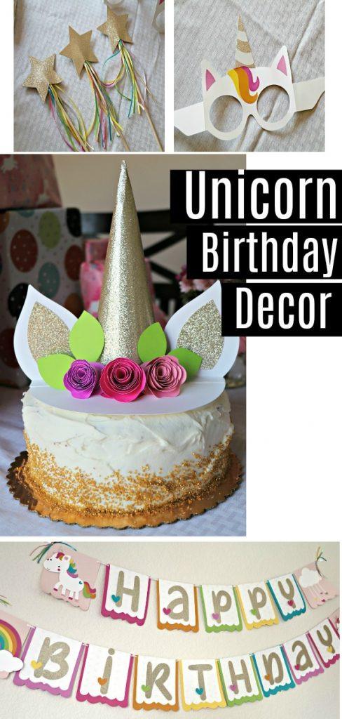 Diy Unicorn Birthday Party Ideas  DIY Unicorn Birthday Party Decorations Banner Cake
