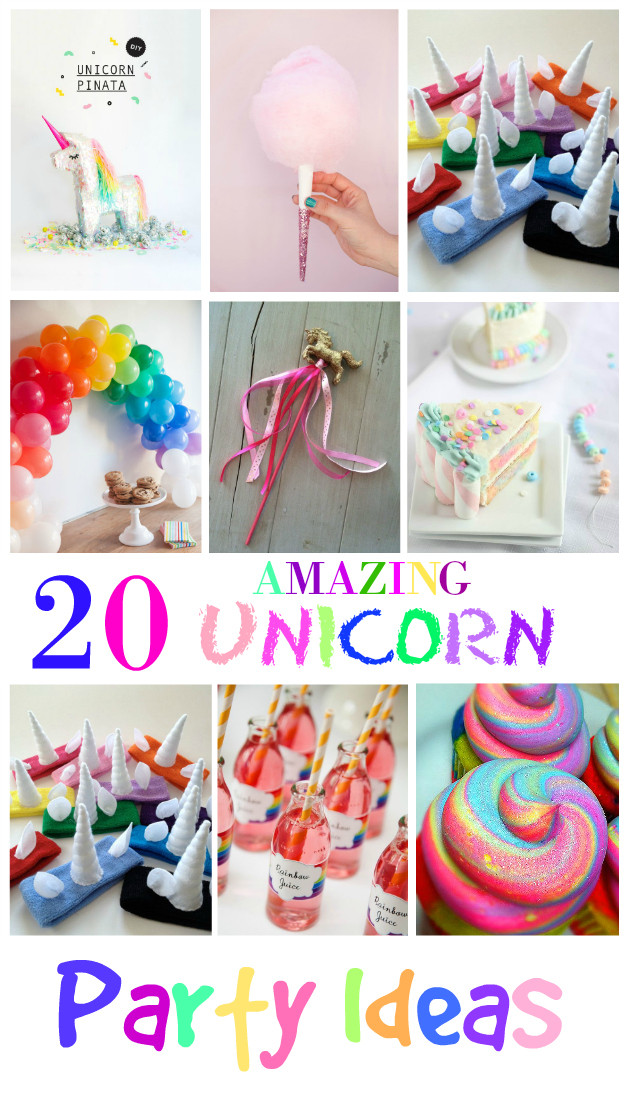 Diy Unicorn Birthday Party Ideas  20 Amazing Unicorn Birthday Party Ideas for Kids