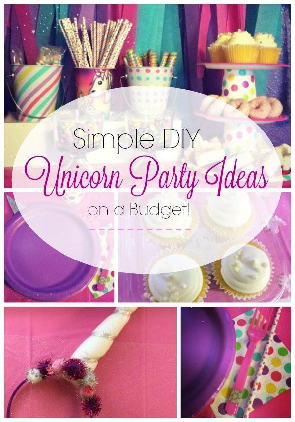Diy Unicorn Birthday Party Ideas  Simple DIY Unicorn Party Ideas
