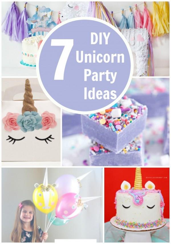 Diy Unicorn Birthday Party Ideas  7 DIY Unicorn Party Ideas – Party Ideas