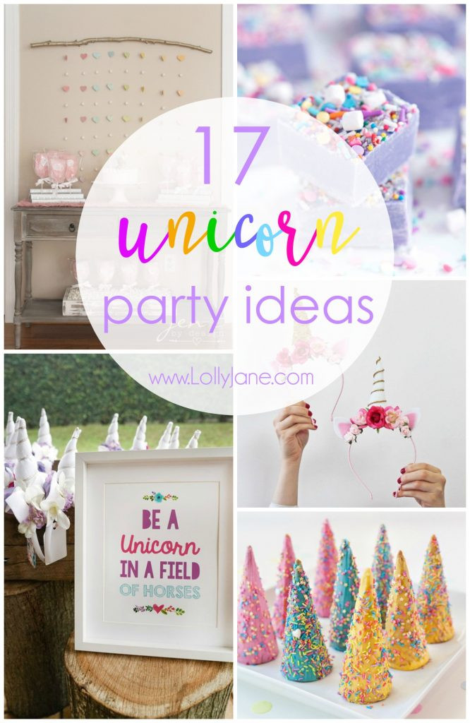 Diy Unicorn Birthday Party Ideas  17 unicorn party ideas Lolly Jane