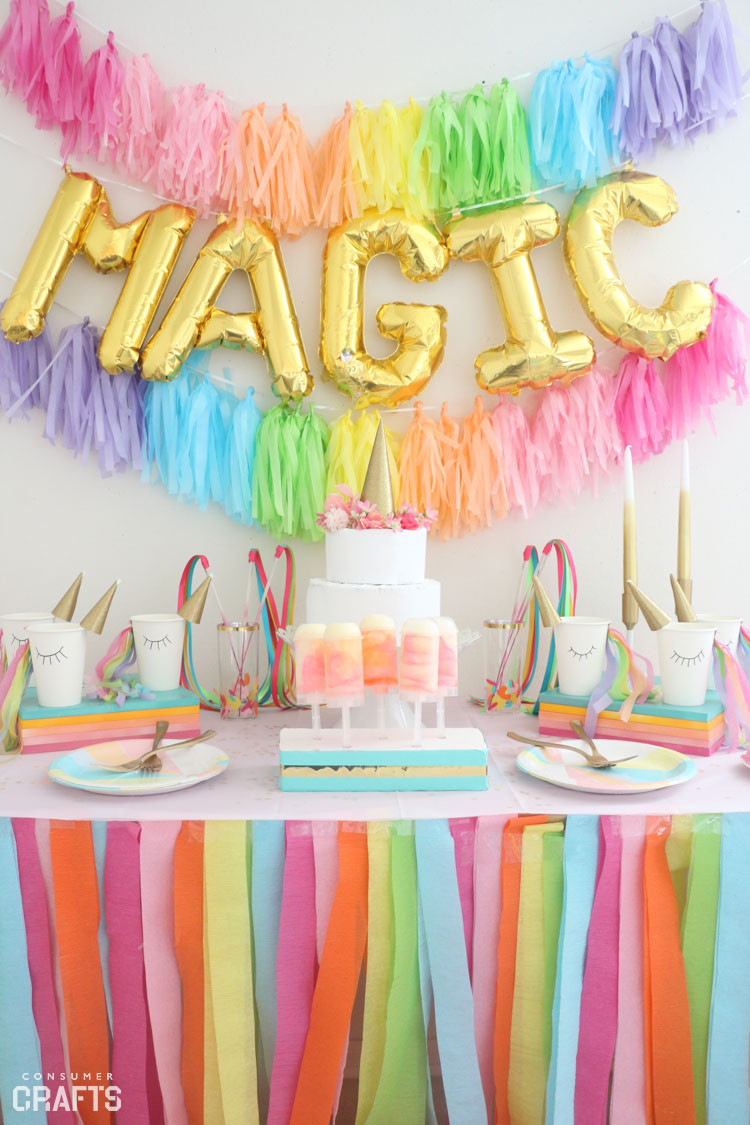 Diy Unicorn Birthday Party Ideas  DIY Unicorn Party Cups Step by Step Consumer Crafts
