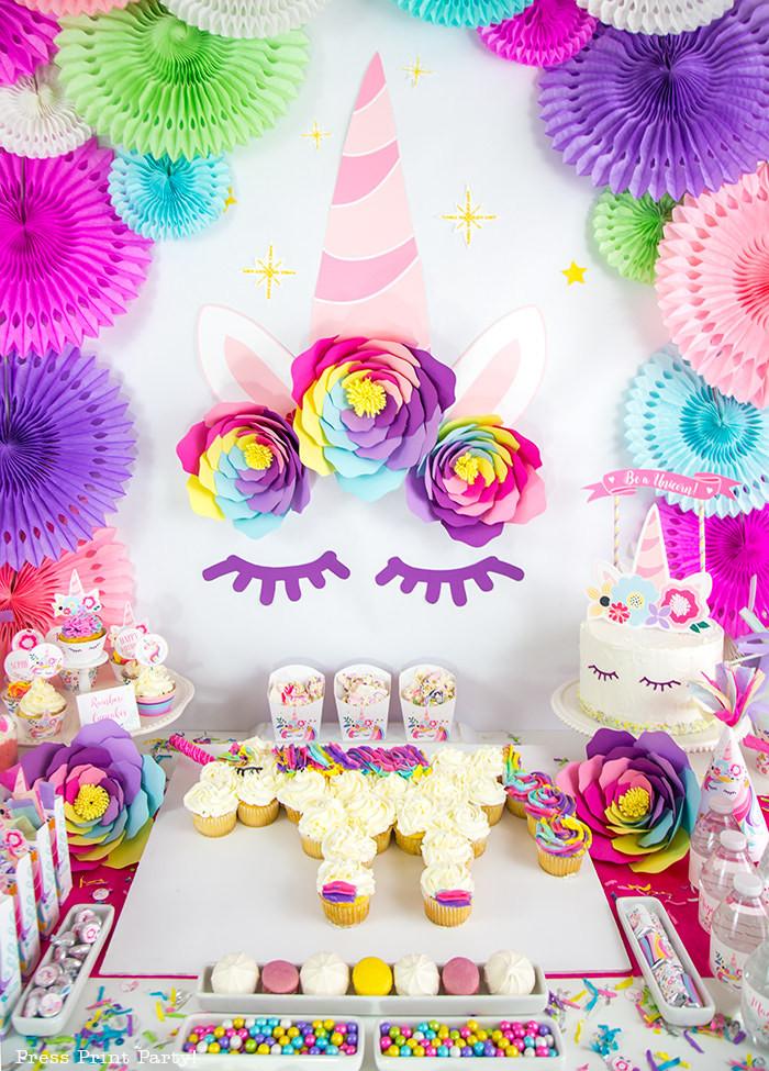 Diy Unicorn Birthday Party Ideas  Truly Magical Unicorn Birthday Party Decorations DIY