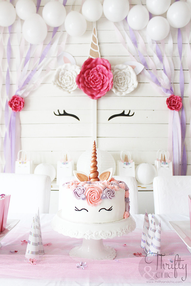 Diy Unicorn Birthday Party Ideas  Thrifty and Chic DIY Projects and Home Decor