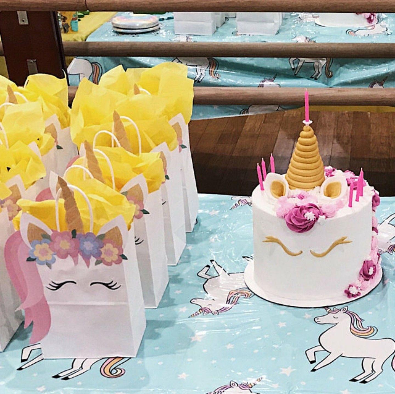Diy Unicorn Birthday Party Ideas  Unicorn Party Unicorn FAVOR BAGS Unicorn Birthday