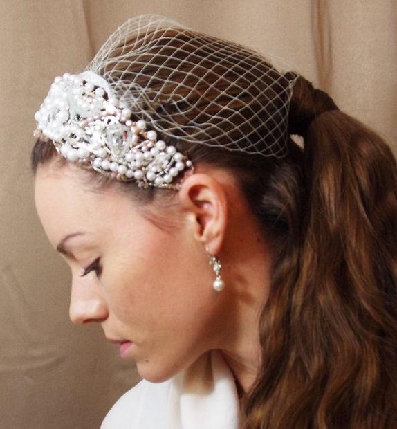 DIY Wedding Headpieces  Unique DIY Beautiful HeadPiece & Small Veil Finished
