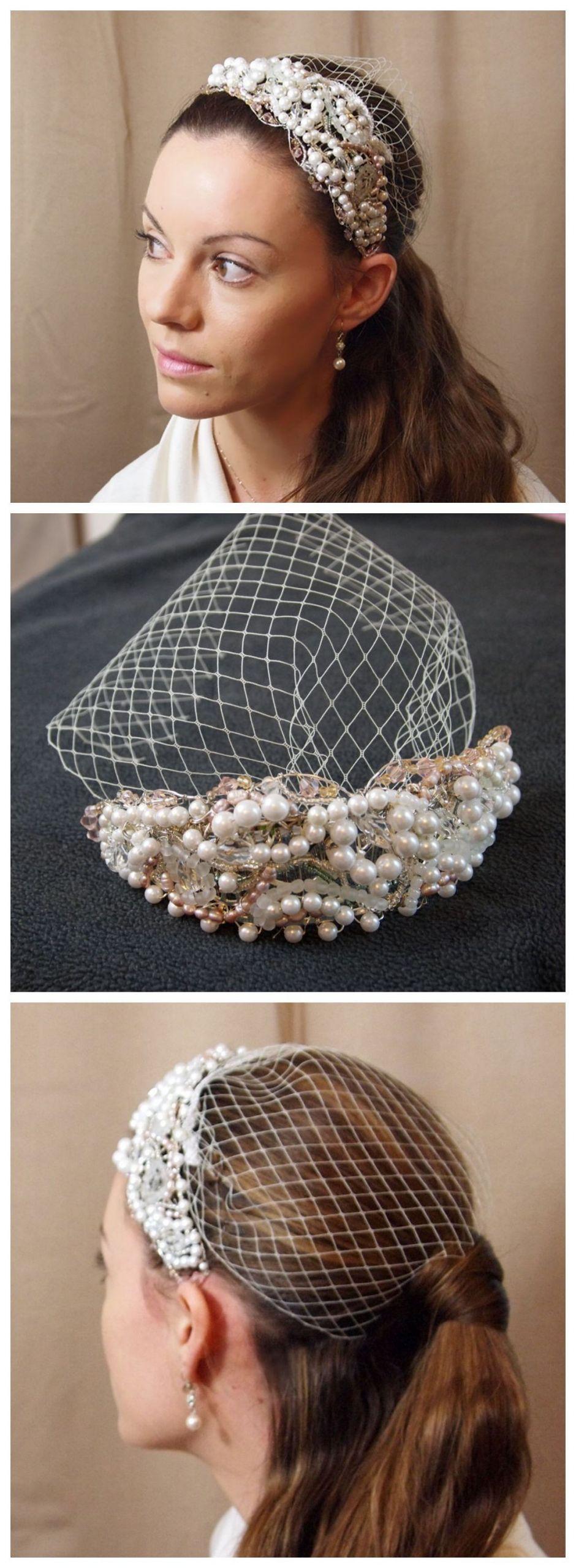 DIY Wedding Headpieces  Unique DIY Beautiful HeadPiece & Small Veil