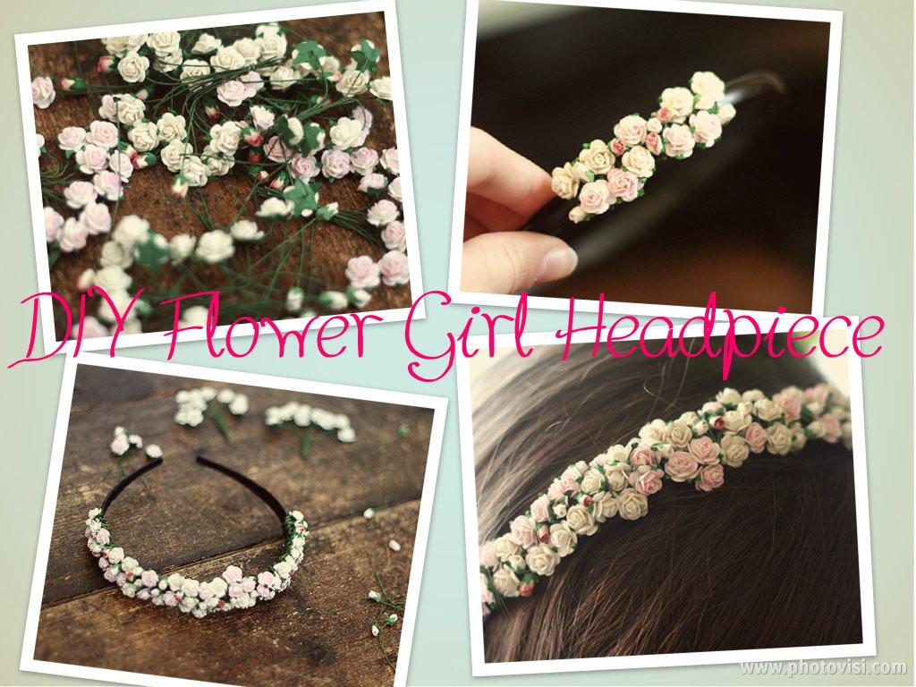 DIY Wedding Headpieces  Adora Wedding Accessories Simple DIY Project Flower Girl