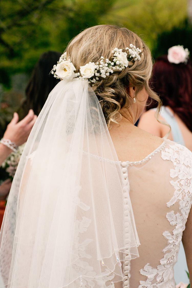 DIY Wedding Headpieces  Pretty Pink DIY Village Hall Countryside Wedding