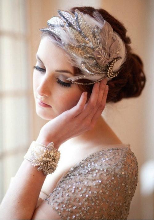 DIY Wedding Headpieces  Great Gatsby Wedding Love This Headpiece Weddbook