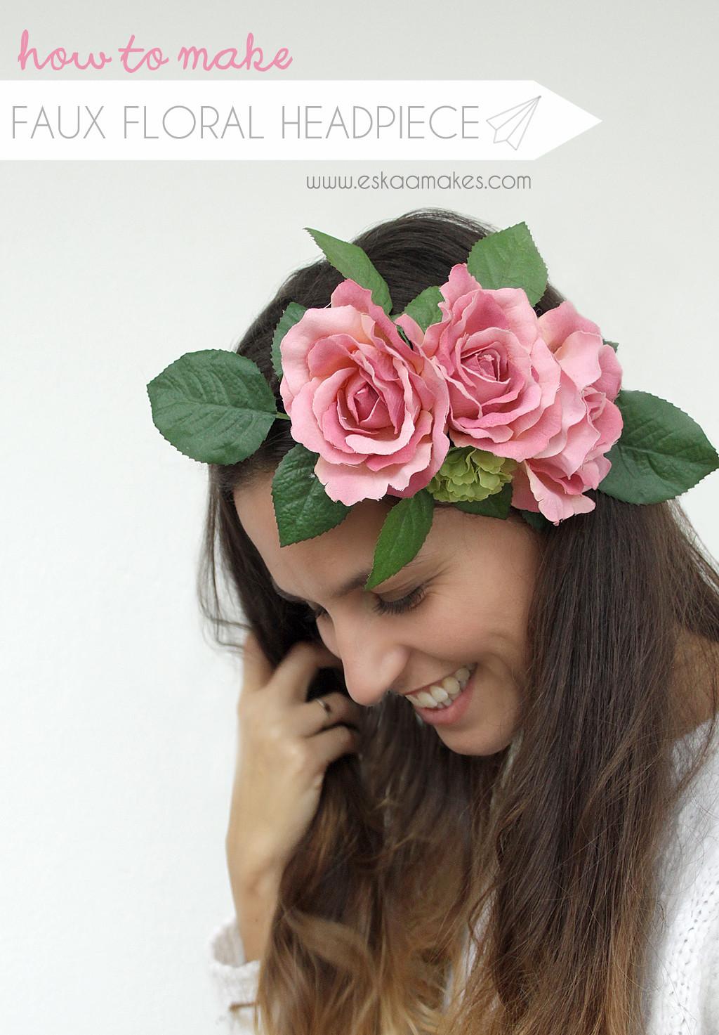 DIY Wedding Headpieces  How to make faux floral headpiece [es kaa ] makes