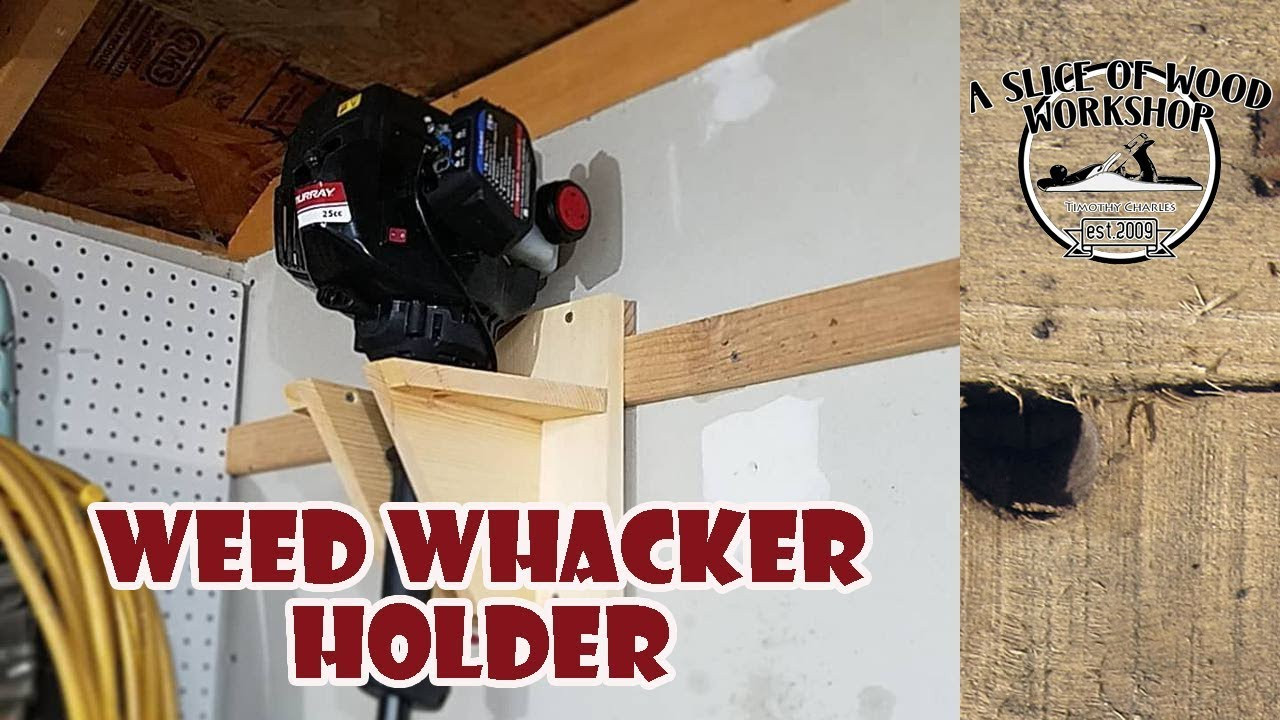 DIY Weed Eater Rack  How to Make a Simple Weed Eater Holder