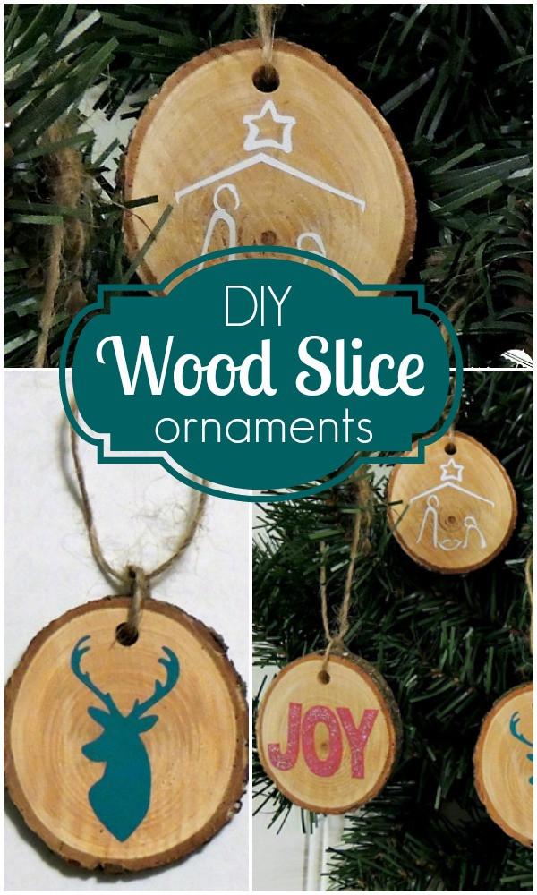 DIY Wooden Christmas Decorations  DIY Wood Disc Ornaments