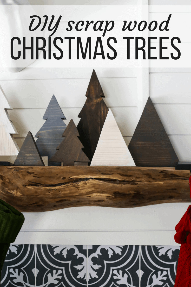 DIY Wooden Christmas Decorations  DIY Scrap Wood Christmas Trees – Love & Renovations