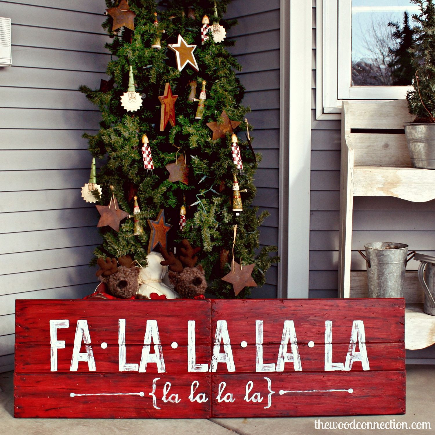 DIY Wooden Christmas Signs  30 Affordable and Easy DIY Christmas Decorations