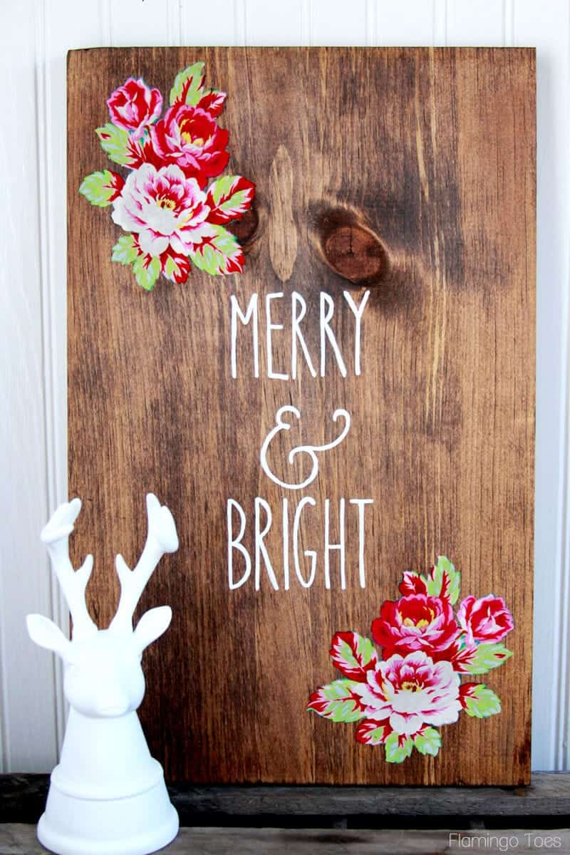 DIY Wooden Christmas Signs  DIY Wood Christmas Sign I Heart Nap Time