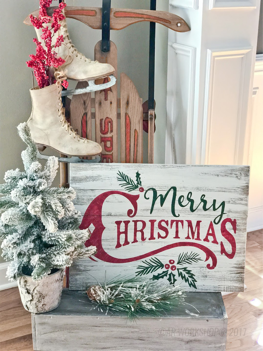 DIY Wooden Christmas Signs  Plank Wood Holiday – AR Workshop Gallery