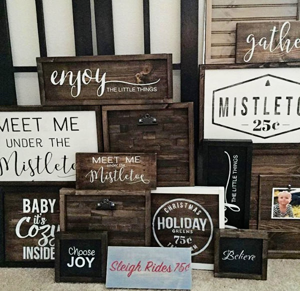 DIY Wooden Christmas Signs  15 Easy DIY Christmas Signs for a Festive Front Porch
