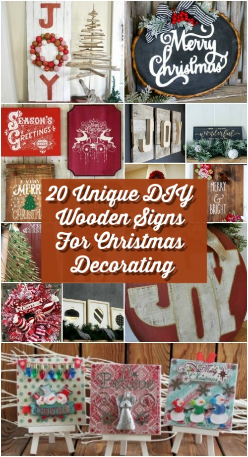 DIY Wooden Christmas Signs  20 Unique DIY Wooden Signs For Christmas Decorating DIY