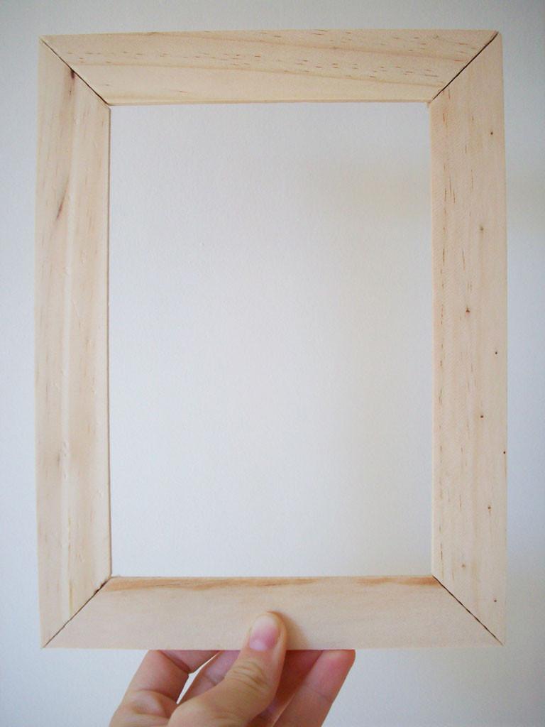 DIY Wooden Photo Frame  26 DIY Picture Frame Ideas