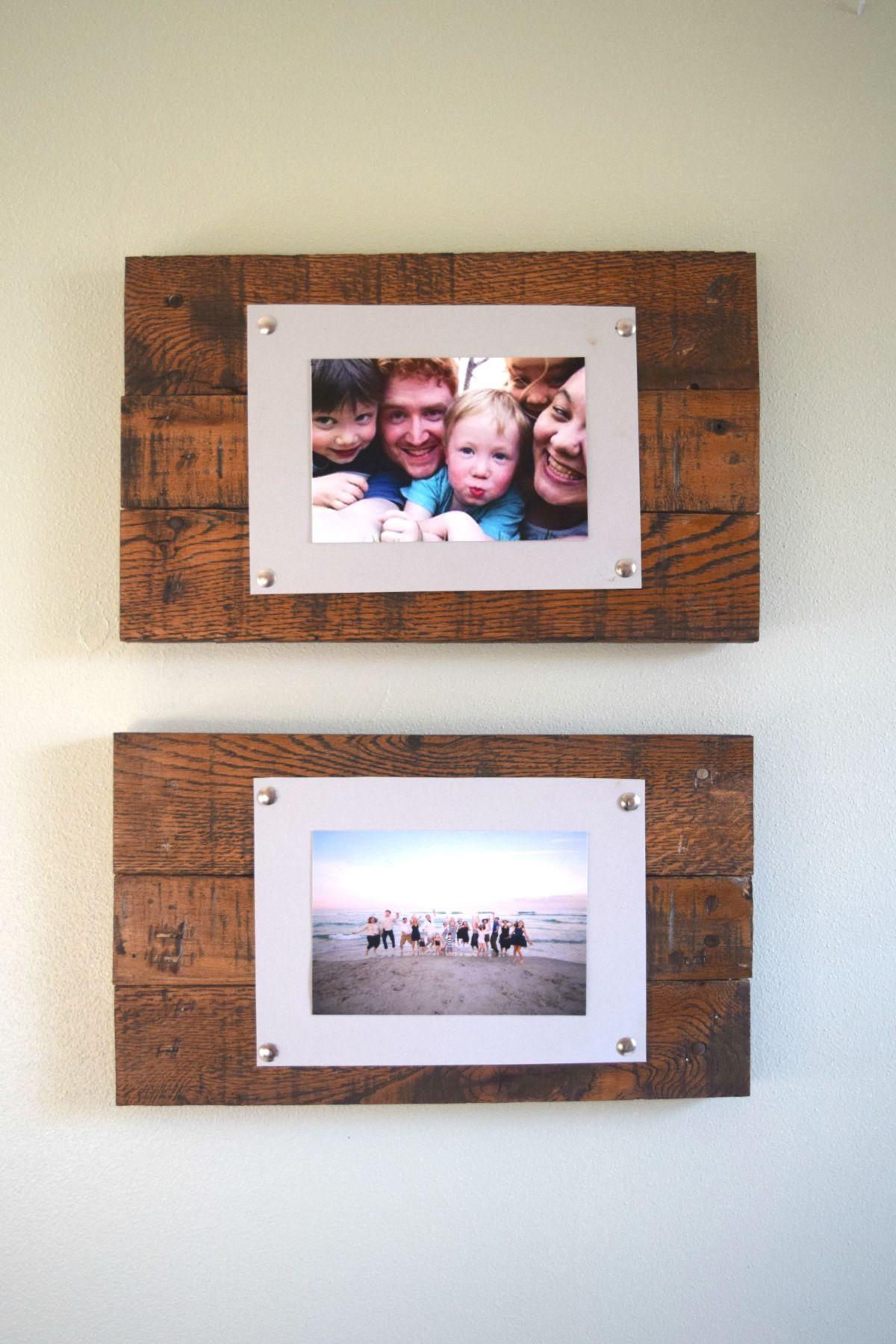 DIY Wooden Photo Frame  DIY Rustic Scrap Wood Picture Frames Spotlight Favorite s