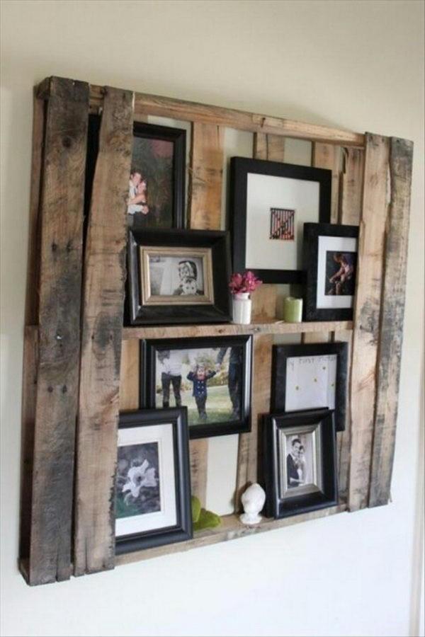 DIY Wooden Photo Frame  20 Creative Frame Display Ideas Hative