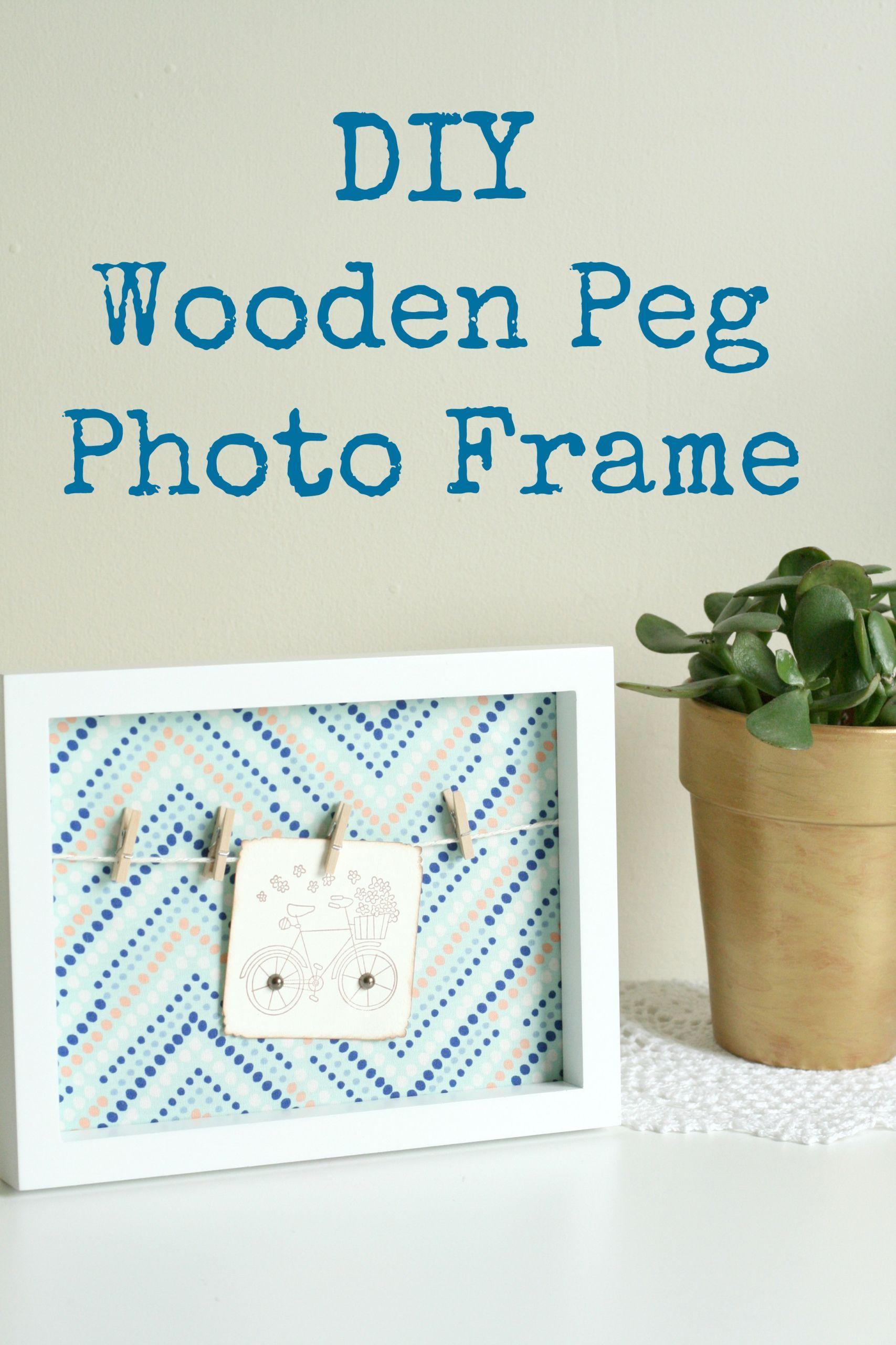 DIY Wooden Photo Frame  DIY Wooden Peg Frame