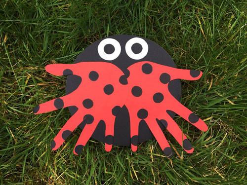 Dltk Crafts For Kids  Handprint Ladybug Paper Craft
