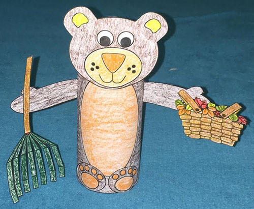 Dltk Crafts For Kids  Fall Bear TP Roll Craft