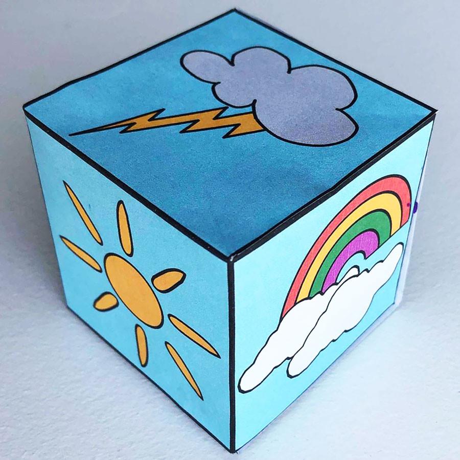 Dltk Crafts For Kids  Weather Dice