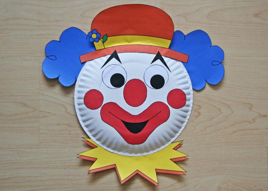 Dltk Crafts For Kids  Clown Paper Plate Craft