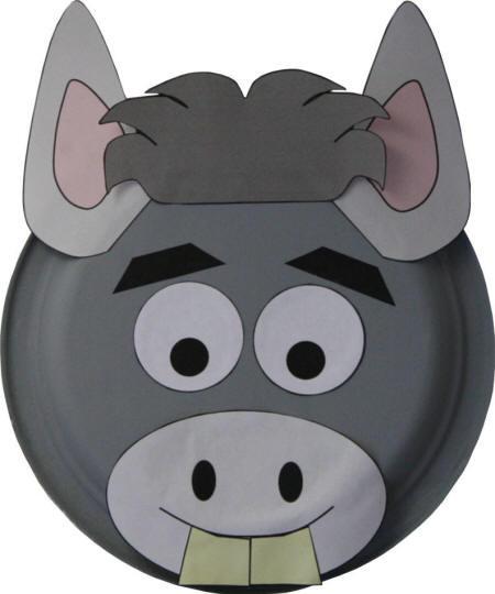 Dltk Crafts For Kids  Paper Plate Donkey Craft