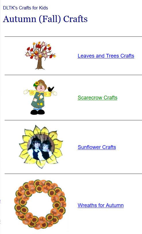 Dltk Crafts For Kids  Activities for Fall Autumn at Internet 4 Classrooms