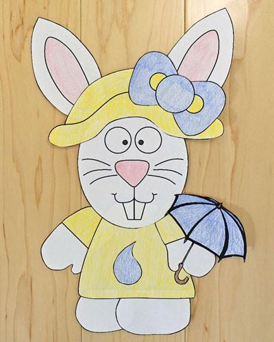 Dltk Crafts For Kids  Spring Bunny Paper Craft