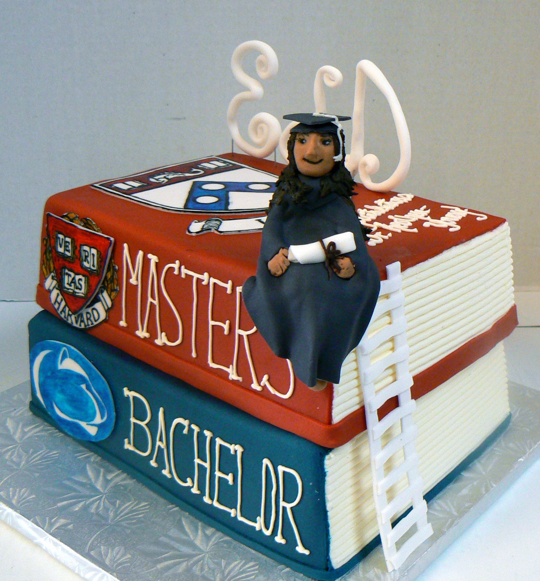 Doctoral Graduation Party Ideas  Doctorate Masters Bachelors Graduation Cake