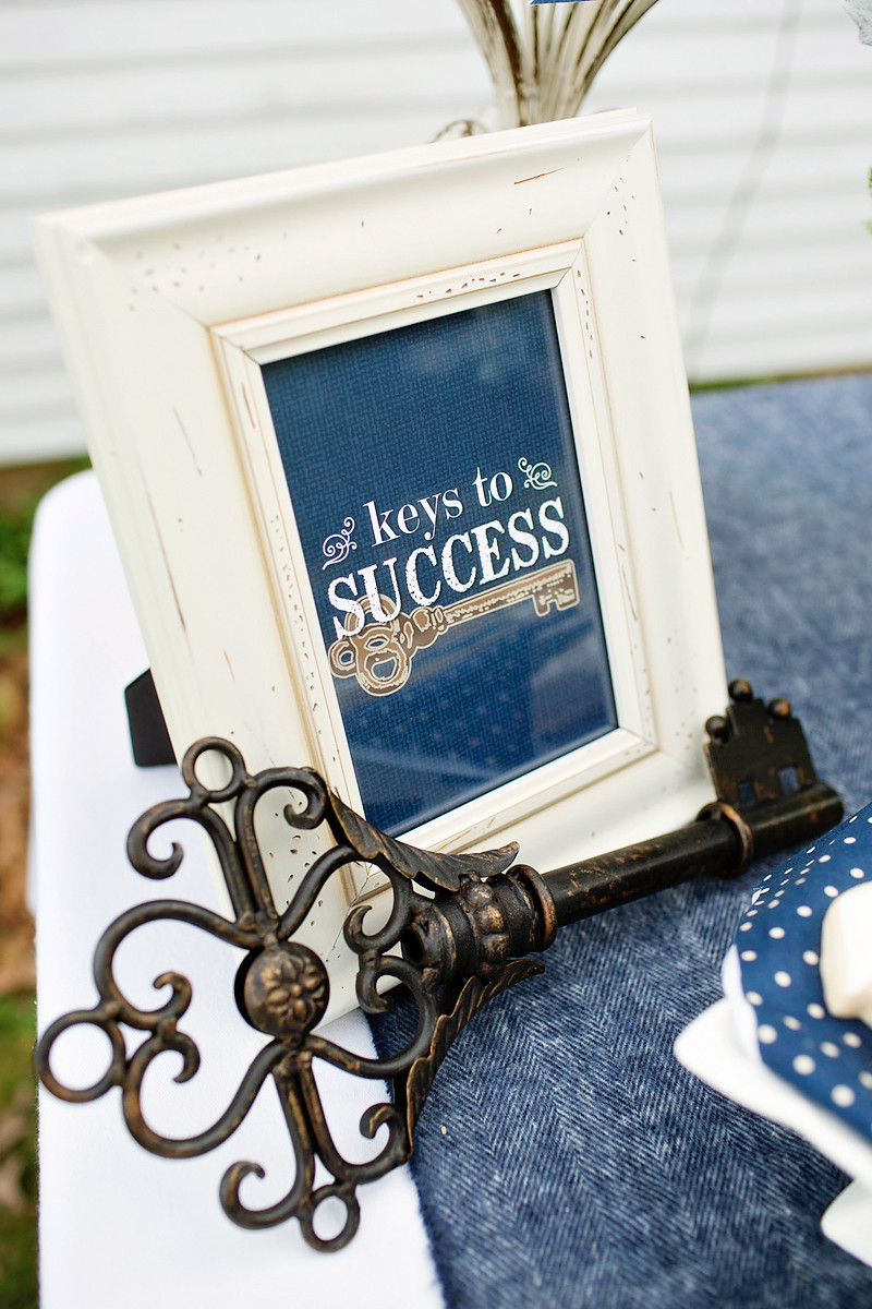 """Doctoral Graduation Party Ideas  Lovely & Rustic """"Keys to Success"""" Graduation Party"""