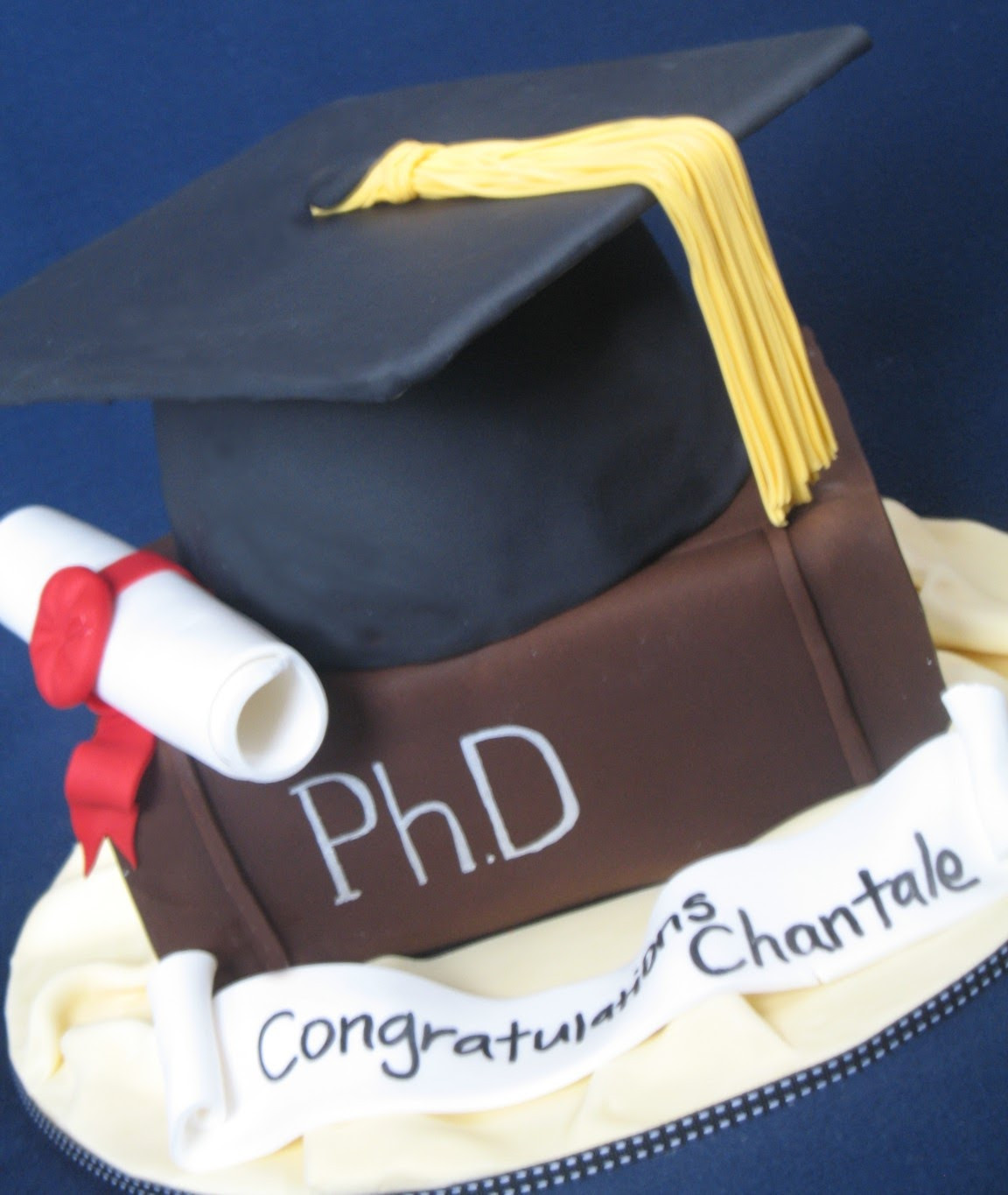 Doctoral Graduation Party Ideas  Blissfully Sweet A Graduation Cake fit for a PhD
