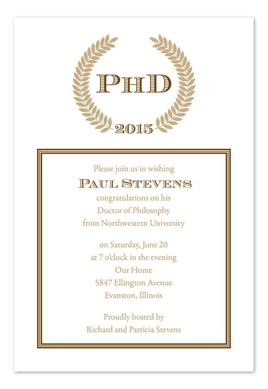 Doctoral Graduation Party Ideas  phd graduation party