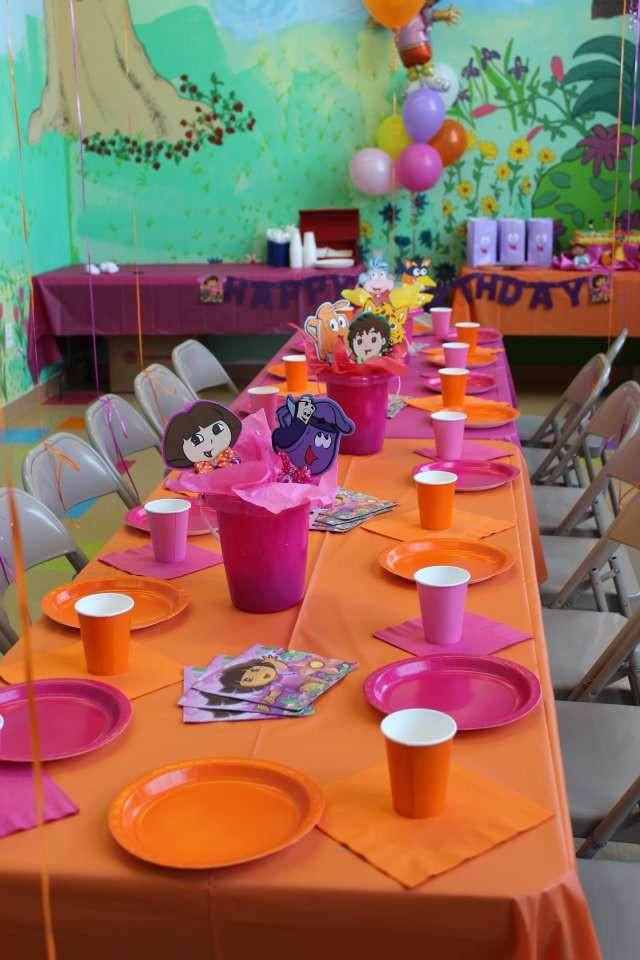 Dora Birthday Decorations  DORA Birthday Party Ideas 12 of 15